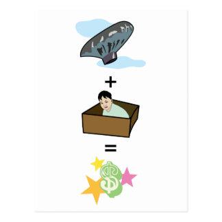Balloon + Boy Hiding in Box = $$ Stardom $$ Post Cards