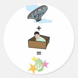 Balloon + Boy Hiding in Box = $$ Stardom $$ Sticker