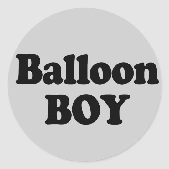 Balloon Boy Instant Costume Classic Round Sticker