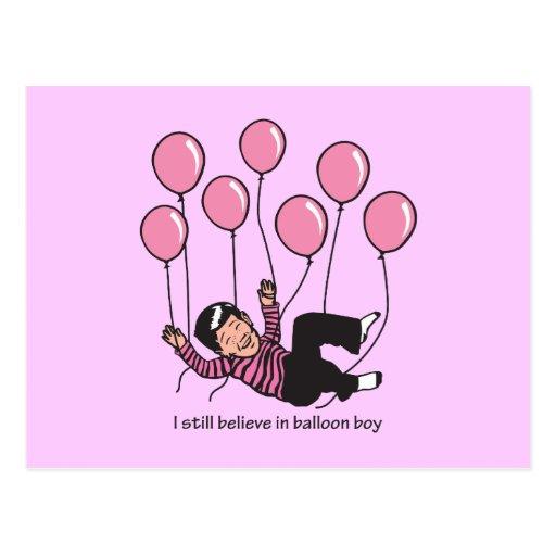 Balloon Boy Post Card