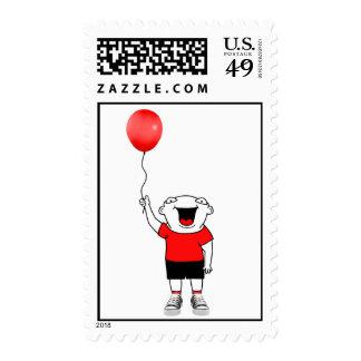 Balloon Boy Postage Stamp