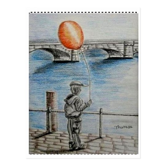balloon boy postcard