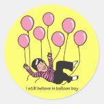 Balloon Boy Round Stickers