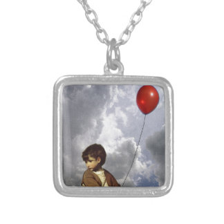 Balloon Boy Silver Plated Necklace