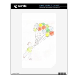 Balloon Boy Decals For The NOOK Color