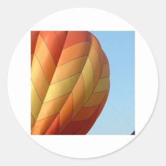 Balloon!  Bright orange! Classic Round Sticker
