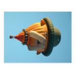 Balloon bulldog postcard