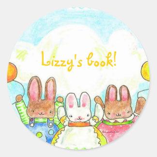 balloon bunnies bookplate