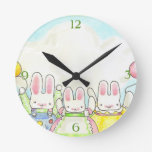 Balloon bunnies clock