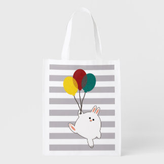 Balloon Bunny Grocery Bag