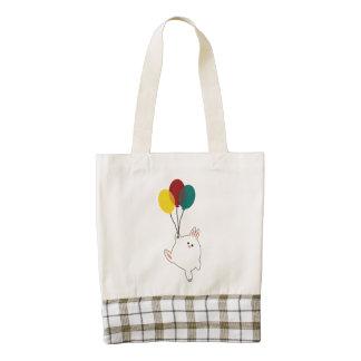 Balloon Bunny Zazzle HEART Tote Bag