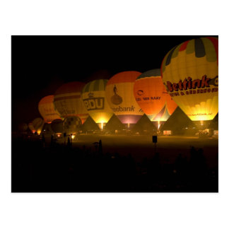 Balloon By Candlelight Postcard