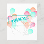 """Balloon Candy Bar Wrapper Favor<br><div class=""""desc"""">Pretty pink,  orange and aqua colored balloons on this chocolate bar wrapper for a sweet thank you favor.  Compliments our invitations.</div>"""