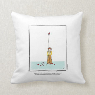 BALLOON cartoon by Ellen Elliott Throw Pillow