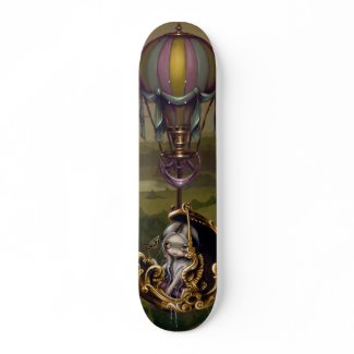 Balloon Chariot steampunk Skateboard skateboard