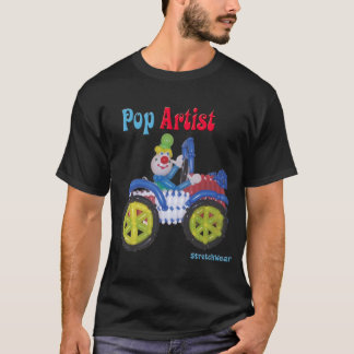 Balloon Clown in Car saying Balloon Pop Artist T-Shirt