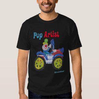 Balloon Clown in Car saying Balloon Pop Artist Tee Shirt