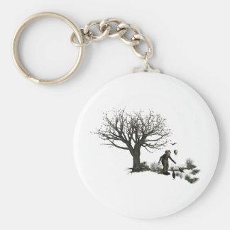 Balloon Clown Old Tree & Black Birds Original Keychain