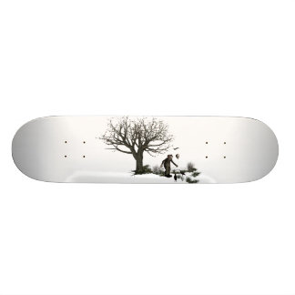 Balloon Clown Old Tree & Black Birds Original Skateboard
