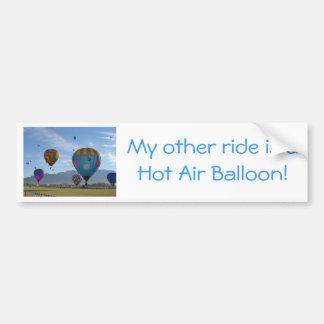 Balloon cluster car bumper sticker