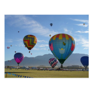 Balloon cluster postcard