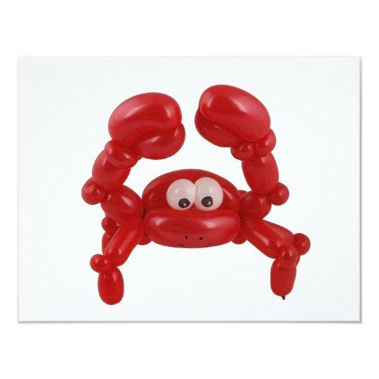 Balloon crab card