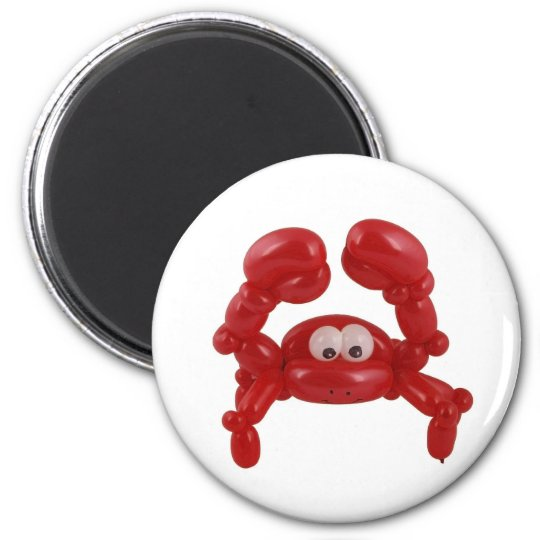 Balloon crab magnet