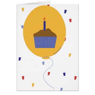 Balloon Cupcake 2007 Card