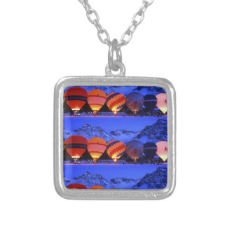 balloon day square pendant necklace
