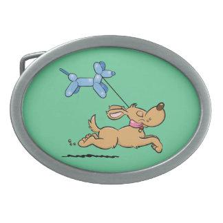 Balloon Dog Oval Belt Buckle