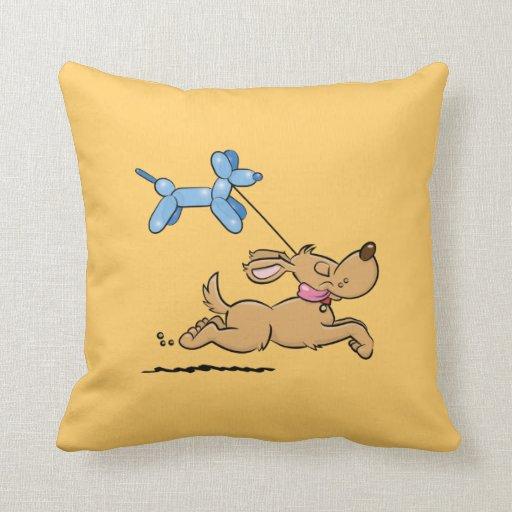Red Dog Throw Pillows : Balloon Dog Throw Pillow Zazzle
