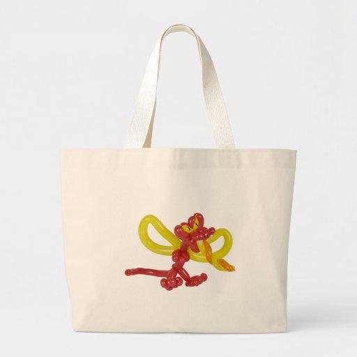 Balloon dragon jumbo tote bag