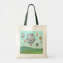 Balloon Farm Animals Tote Bag