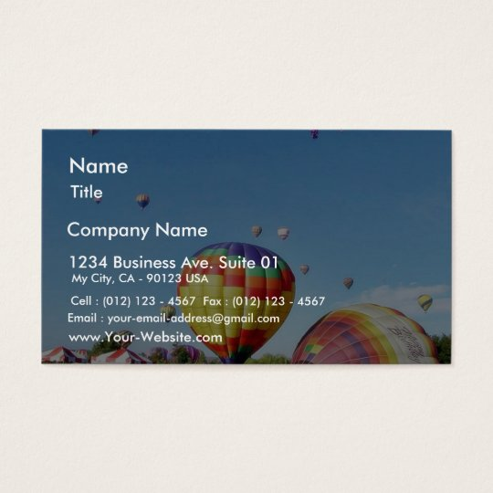 Balloon Feastival Event Business Card