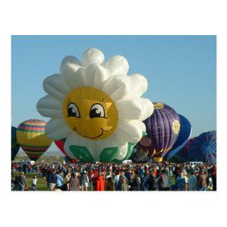 Balloon Fiesta Daisy Postcard