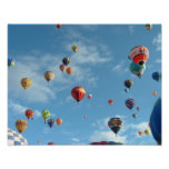 Balloon fiesta in the morning poster