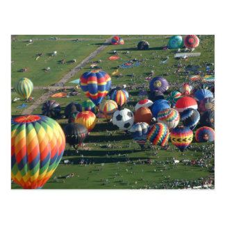 Balloon fiesta postcard