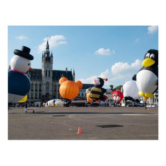 Balloon fiesta views postcard