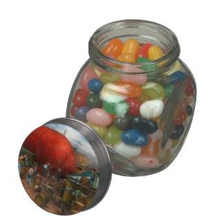 Balloon - Filling balloon on Wanamaker's  - 1911 Glass Candy Jars