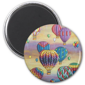 balloon flight 2 inch round magnet
