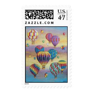 balloon flight- stamp