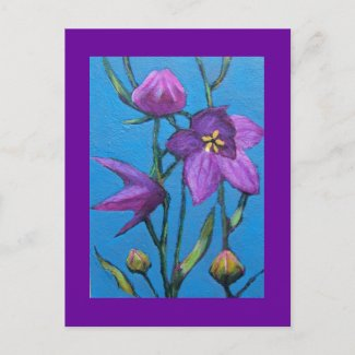BALLOON FLOWER POST CARD