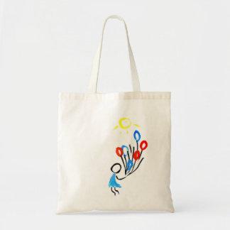 balloon fly tote bag