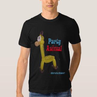 Balloon Giraffe - Party Animal T Shirts