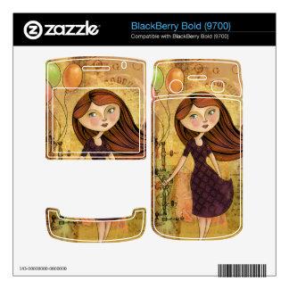 Balloon Girl Digital Collage Blackberry Bold Skin