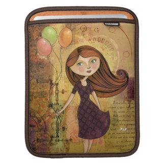 Balloon Girl Digital Collage iPad Sleeve