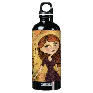 Balloon Girl Digital Collage Reusuable Water Bottl Aluminum Water Bottle