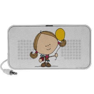 Balloon Girl Doodle Speaker