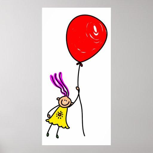 Balloon Girl Poster