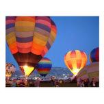 Balloon glow postcard